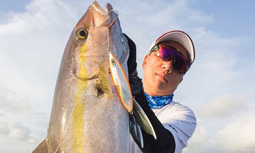 Elemento慢摇钓竿511/8 + R60HL铁板轮渔获,章红(印尼钓场)