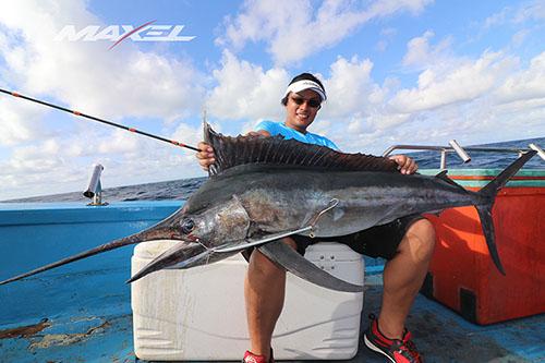 F系列海钓鼓轮F40CH,慢摇铁板竿RP55-5渔获,马林鱼(泰国钓场)