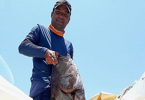 R系列海钓鼓轮R60H,海钓慢摇铁板钓渔获,大海鲈(葡萄牙)