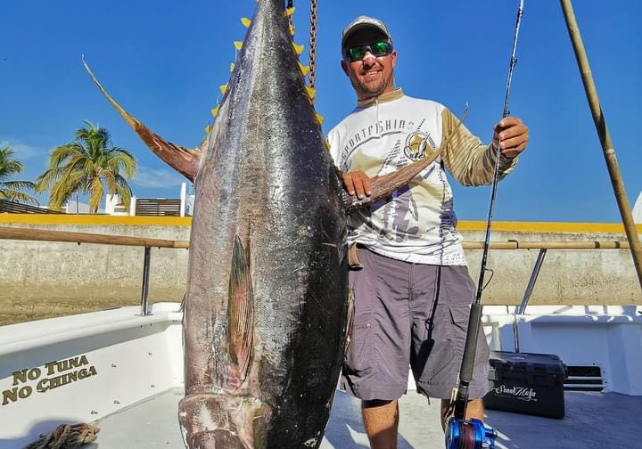 Maxel海钓铁板鼓轮S系列OSL09D渔获150KG黄鳍金枪(墨西哥钓场)